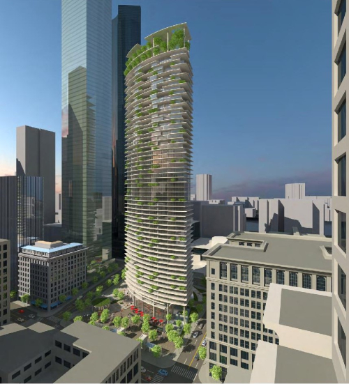 Rendering from James K.M. Cheng Architects