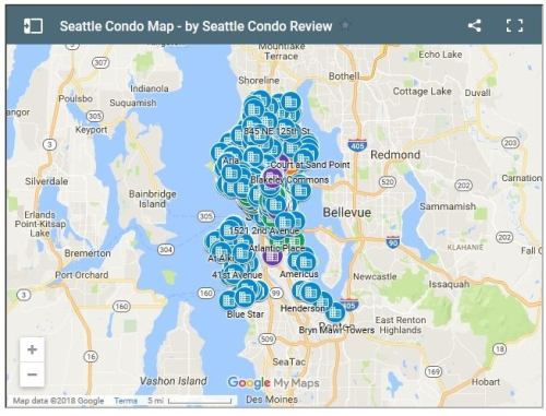 Seattle Condo Map: Our New Improved Seattle Condominium Building Map